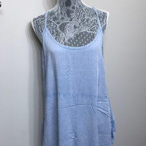 NWT Anthropology women's blue jean romper size M